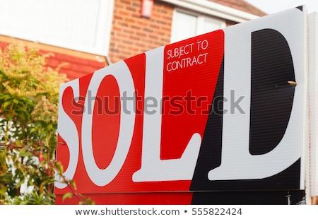 Haus Verkauf Zeichen 3D-Darstellung isoliert weiß Stock foto © montego