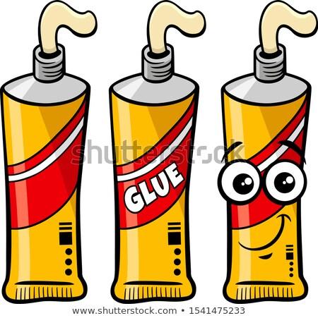 Tubo cola objeto clip-art desenho animado Foto stock © izakowski