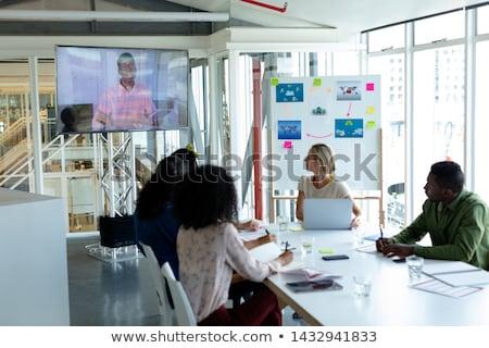 Elöl kilátás sokoldalú férfi női cégvezetők Stock fotó © wavebreak_media