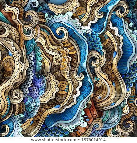 Decoratief abstract golvend etnische Stockfoto © balabolka