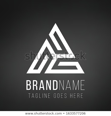 Trinity logo design concept constructed from lines to shape triangle in white color. Stock Vector il Stock photo © kyryloff