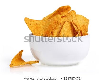картофеля Начо кегли быстрого питания кухня Сток-фото © dolgachov