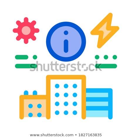 Informacji zaopatrywać elektrycznej domu ikona wektora Zdjęcia stock © pikepicture