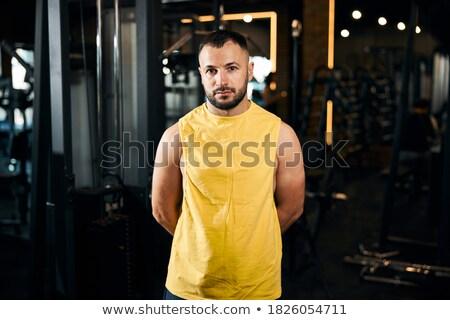 Foto sportlich Sportler stehen schauen Stock foto © deandrobot