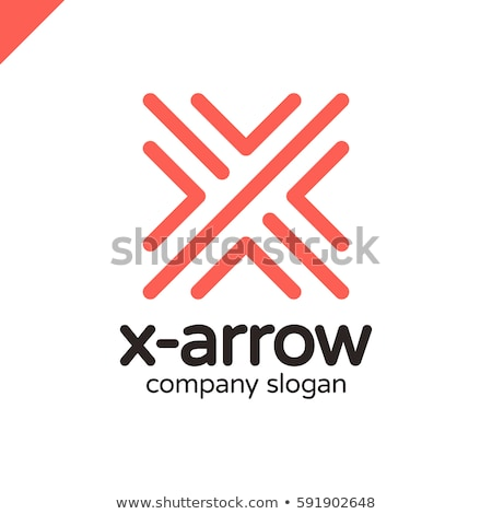 Logistics or delivery logo template. Letter X, four arrows in one point. Express money, internet dig Stock photo © kyryloff