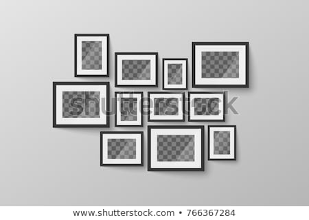 現代 ミニマリスト 黒 画像フレーム 透明な 場所 ストックフォト © evgeny89