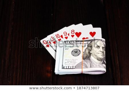 покер комбинация тень серый стороны костюм Сток-фото © evgeny89