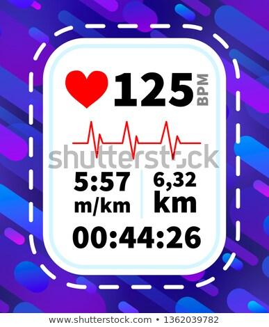 Szívritmus monitor kirakat fut dinamikus információ Stock fotó © evgeny89