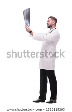 Lekarza patrząc xray diagnostyczny opieka medyczna medycznych Zdjęcia stock © yupiramos