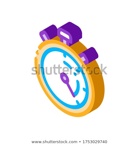 Laundry Service Stop Watch isometric icon vector illustration Stock photo © pikepicture
