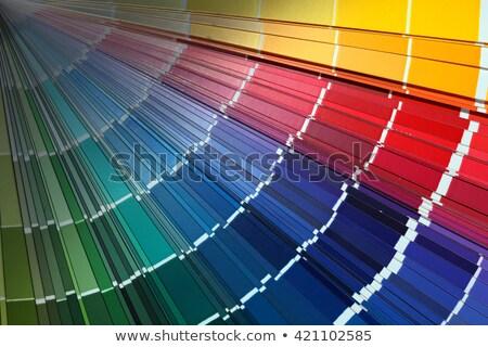 spread color chart Stock photo © prill