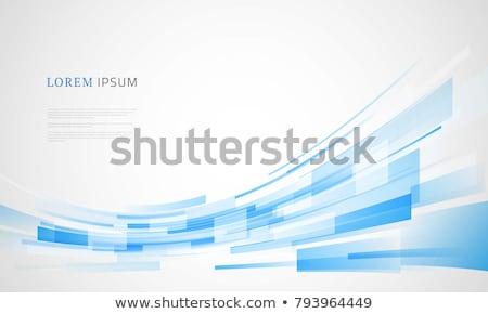 Abstract Blauw lijnen achtergrond patroon stijl Stockfoto © antkevyv