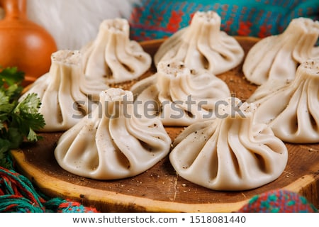 Georgian dumplings Khinkali Stock photo © mahout