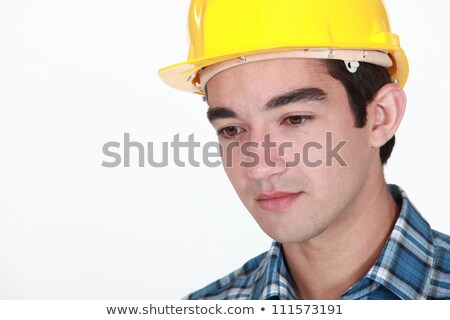 Young construction worker with a neutral expression Stock photo © photography33