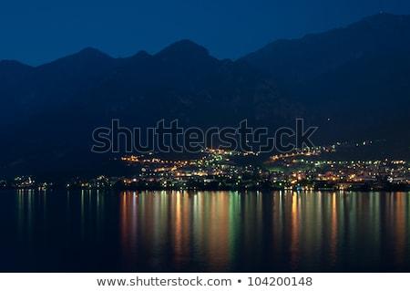 stad · meer · milaan · hemel · water · wolken - stockfoto © franky242