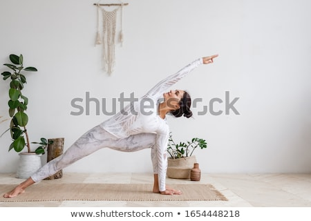 güzel · genç · esmer · kadın · meditasyon · çekici - stok fotoğraf © christinerose81