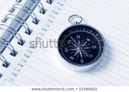 カレンダー 議題 コンパス 時間 計画 ストックフォト © devon