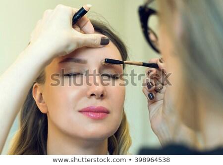 Kobieta brew dość brunetka piękna skóry Zdjęcia stock © imarin