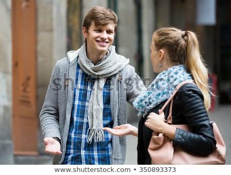 Man approaching blond woman Stock photo © photography33