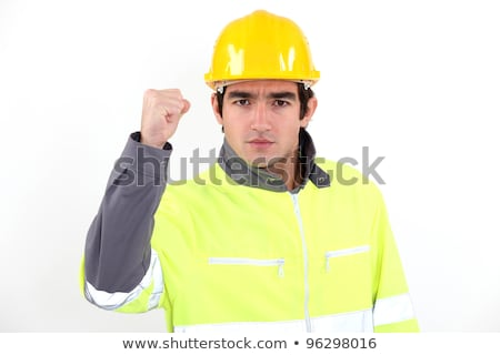 angry builder waving fist stock photo © photography33