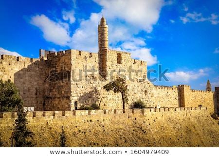 древних руин старые Иерусалим небе город Сток-фото © OleksandrO