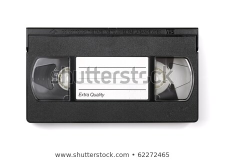 Old VHS video cassette tape with blank label for copyspace Stock photo © ozaiachin