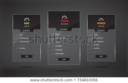 Preços lista tabela produto um traçar Foto stock © liliwhite