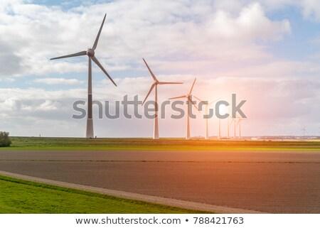 szél · erő · fehér · néhány · szélturbinák · tiszta - stock fotó © maxpro