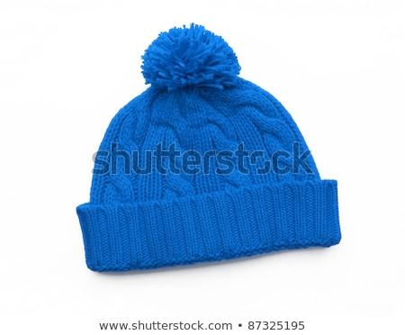 bleu · tricoté · laine · texture · peuvent · mode - photo stock © shutswis