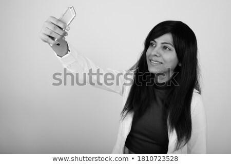 zakenvrouw · foto · witte · glimlach · gezicht - stockfoto © wavebreak_media