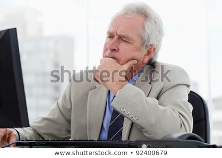 Senior businessman daydreaming stock photo © photography33
