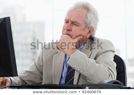 Senior businessman daydreaming stock photo © photography33