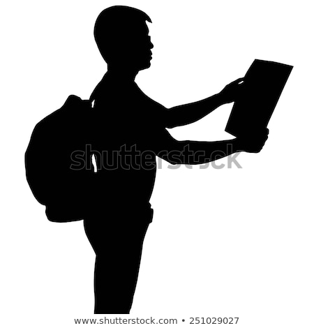 man holding paper for travel destination Stock photo © compuinfoto