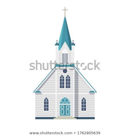 Church Front and Cross Stock photo © eldadcarin