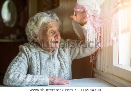 Senior Old Lady's Hands Open Stock photo © fenton