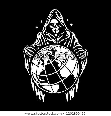 Grim Reaper Skeleton Standing Stock photo © patrimonio