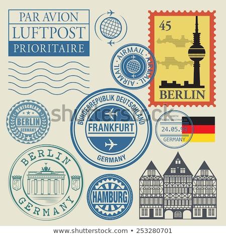 postabélyeg · Németország · klasszikus · terv · retro · bélyeg - stock fotó © taigi
