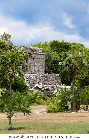 Oratory Temple of Mayan Ruins Stock photo © ozgur