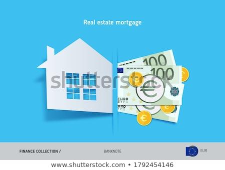 Euro casa dinheiro casa financiar Foto stock © suti