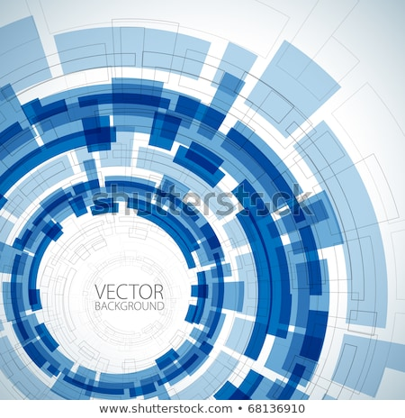 modern digital background in blue with a blank billboard Stock photo © evgenyatamanenko