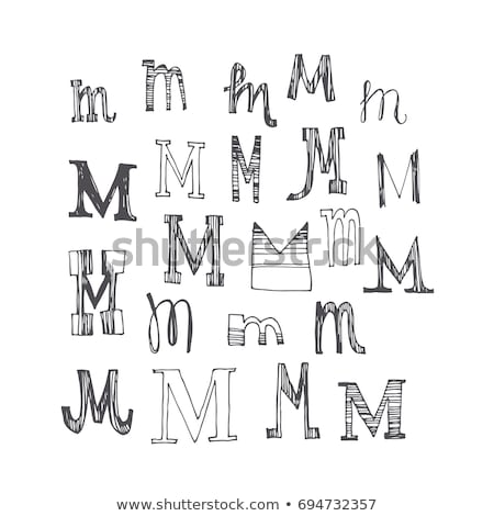 Retro illustration of a complete antiqua alphabet Stock photo © adrian_n