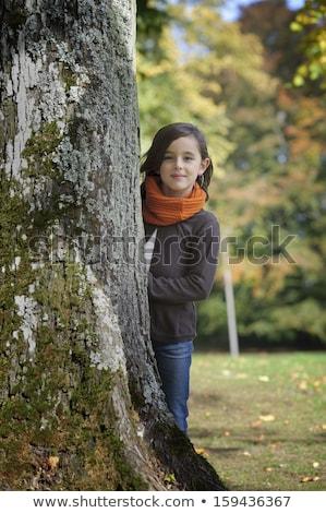 The Girl In A Orange Scarf Stock photo © ryhor
