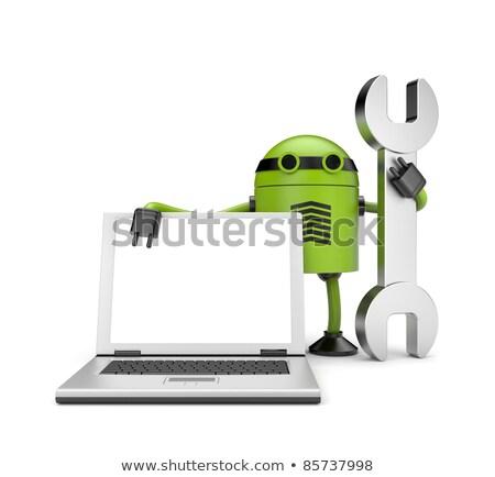 Android robot technologie ruimte Stockfoto © Kirill_M