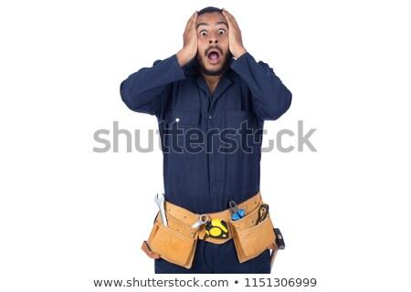 Artigiano incidente sorriso faccia ritratto lavoratore Foto d'archivio © photography33