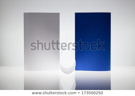 Symmetrie abstract papier glas tabel Stockfoto © CaptureLight
