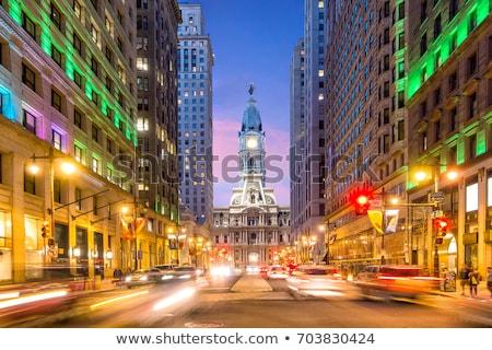 フィラデルフィア · 市 · ホール · 米国 · 空 · 建物 - ストックフォト © marco_rubino