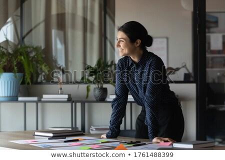 Hazır kırmak adam ayakta son bilardo masası Stok fotoğraf © elvinstar