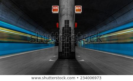 Singapur · metro · tren · insanlar · içinde · kalabalık - stok fotoğraf © meinzahn