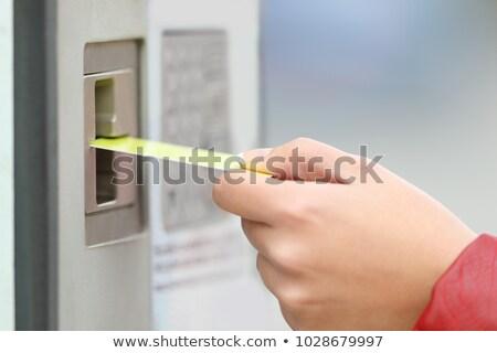 стоянки кредитных карт человека автомобилей стороны Сток-фото © Hofmeester