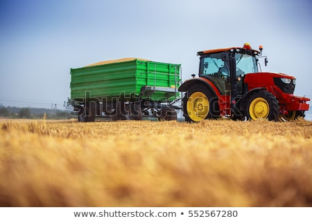 Modern tractor with trailer Stock photo © franky242